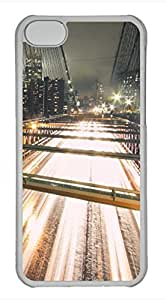Brian114 iPhone 5C Case - Brooklyn Bridge Nigh Hard Clear iPhone 5C Cover, iPhone 5C Cases, Cute iPhone 5c Case