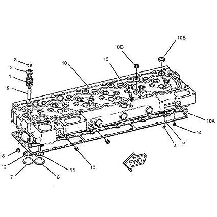 Amazon Com Cylinder Head 7c 4006 7c4006 For Caterpillar Cat 235b