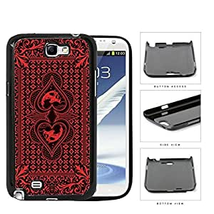 Red Skull Bandana Hard Plastic Snap On Cell Phone Case Samsung Galaxy Note 2 II N7100