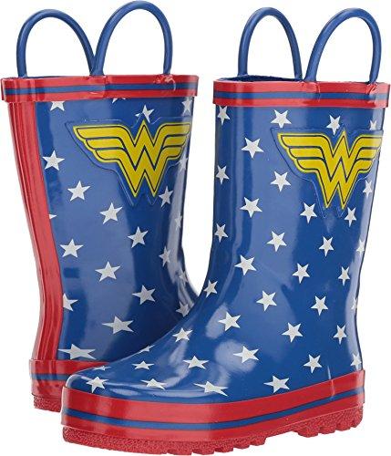 Girl's Wonder Woman Rain Boots (Toddler/Little Kid) Blue]()