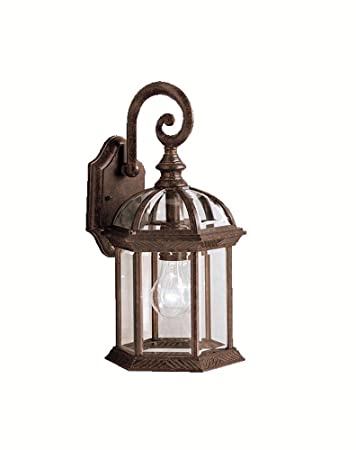 Kichler Barrie Outdoor Wall 1 Light Black Wall Porch Lights