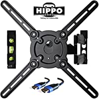 "HIPPO HP679TS Curved&Flat Panel TV Wall Mount Bracket for 26""-55"" TVs up to 88 lbs, VESA 400x400mm, Full Motion Swivel Articulating 20 Extension Arm , 6.5 ft HDMI Cable & Bubble Level Included"