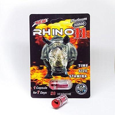 Rhino 11 Platinum 30000 NEW Male Enhancement Pills (5 Packs)