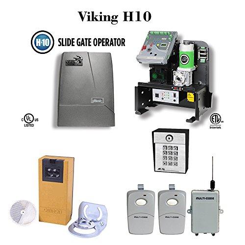 Viking H10 - Slide Gate Operator Commercial / Industrial Use, PhotoCell, Multicode receiver, (Industrial Slide Gate)