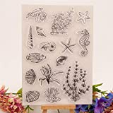YULEKITO Classical Marine Organism Clear Stamps for