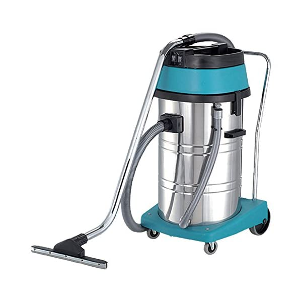 4YourHome Commercial Wet and Dry Tub Industrial Hoover Vacuum Cleaner, 80 Litre, 2000 W, Stainless Steel/Teal