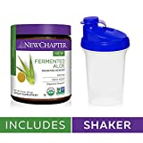 New Chapter Organic Aloe Powder – Fermented Aloe Booster Powder for Calming + Detox Action + Digestive Support – 45 Servings with Shaker Cup