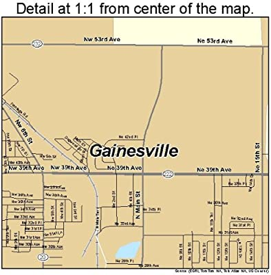 Amazon Com Large Street Road Map Of Gainesville Florida Fl