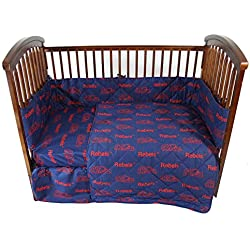 Ole Miss Rebels College Covers 5 Piece Crib Set