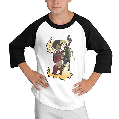 Costume Hulk 2016 (Creamfly Youth Boys Iron Fist Misty Knight Long Sleeve Raglan Baseball Tshirt)