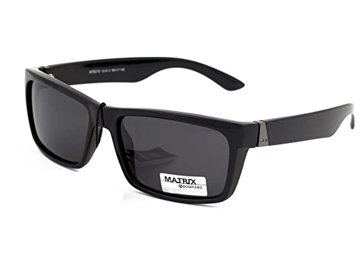 7f57dc3bdcd Matrix Polarized Sunglasses for Men`s Drivers Driving Glasses No Glare  Light Grey Lenses Filter Category 3  Amazon.co.uk  Clothing