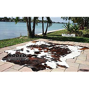 High Quality Cowhide Tricolor Cowhide Rug- XXL 6x8ft(180cm X240cm)TC6X8
