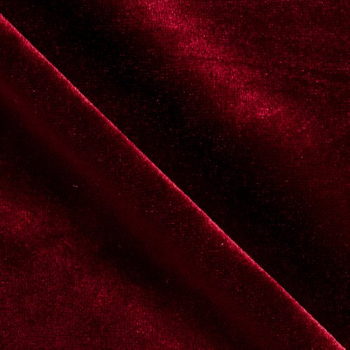 Stretch Velvet Knit Wine Fabric By The Yard