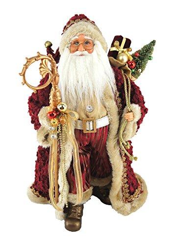 Santa s Workshop 7561 Aristocrat Claus Figurine, 18 , Multi