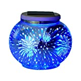 glass ball table lamp - Solar Mosaic Table Lamps Color Changing Yurnero Solar Powered Table Light Crystal Glass Ball Light Indoor/Outdoor Decorations for Christmas Party Holiday Patio Yard(Firework)