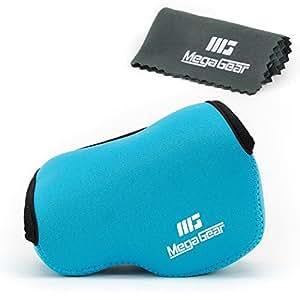 MegaGear ''Ultra Light'' Neoprene Camera Case Bag for Sony NEX-5TL, Sony NEX-5R, Sony NEX-3N with Sony SELP1650, Sony A5100,a Sony A5000 16-50mm Lens (Blue)
