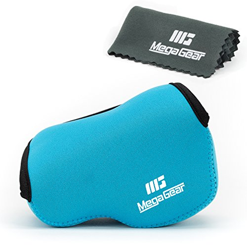 MegaGear ''Ultra Light'' Neoprene Camera Case Bag with Carabiner for Panasonic Lumix DMC‑LX100 Digital Camera (Blue)
