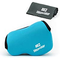 MegaGear Ultra Light Neoprene Camera Case Bag for Sony NEX-5TL, Sony NEX-5R, Sony NEX-3N with Sony SELP1650, Sony A5100,a Sony A5000 16-50mm Lens (Blue)