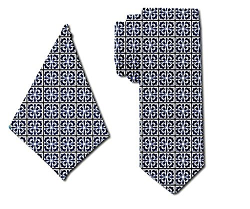 with Tie Tuxedo Trendy Square for Matching Men Pocket Blue Classic qwFx4x