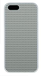 iPhone 5 5S Case Gray LEGO Dots Pattern301 PC Custom iPhone 5 5S Case Cover White