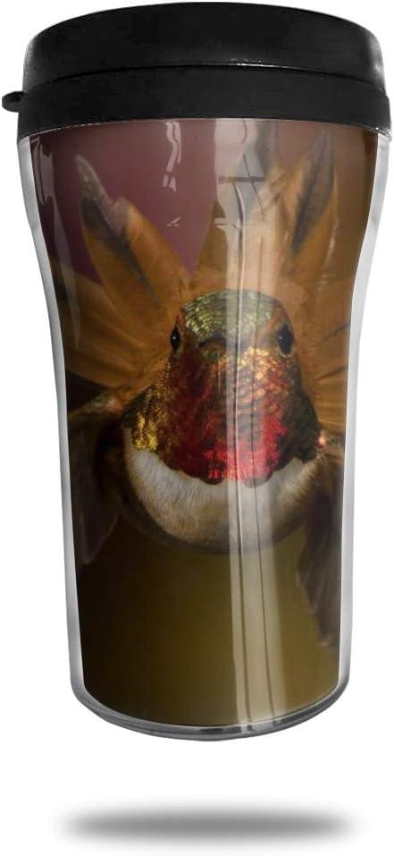 OUYouDeFangA Taza de café de viaje con diseño de pájaro divertido 3D, taza de té aislada, botella de agua para beber con tapa 8 onzas (250 ml)