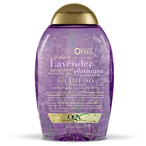 OGX Hydrate & Color Reviving + Lavender Luminescent Platinum Shampoo, 13 Ounce Bottle  Sulfate-Free Surfactants