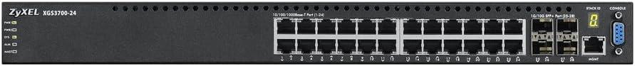 24-port GbE L2+ PoE Switch with 10GbE Uplink Zyxel XGS3700-24HP