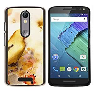 Cubierta protectora del caso de Shell Plástico    Motorola Moto X ( 3rd Generation )    ave amarillo @XPTECH
