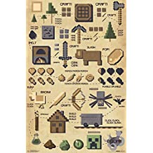 "Trends International RP15052 Minecraft Pictographic Wall Décor, 22.375""x 34"""