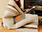 Warm Throw Blanket Brown Gray Plaid Indoor Outdoor Throw Handmade Sofa Blanket Throw for Sofa