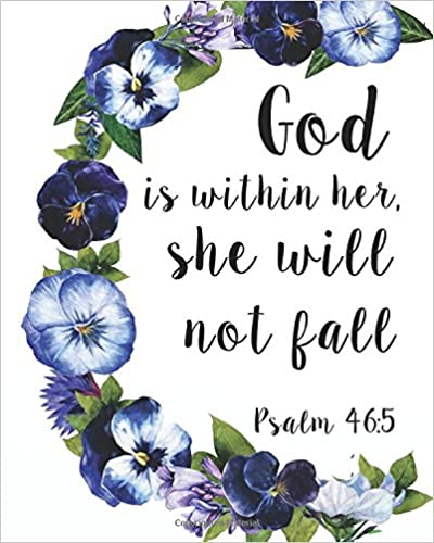 Book God is within her, she will not fall: Bible Verse Notebook and Daily Planner FloralComposition Notebook 132 Pages 8