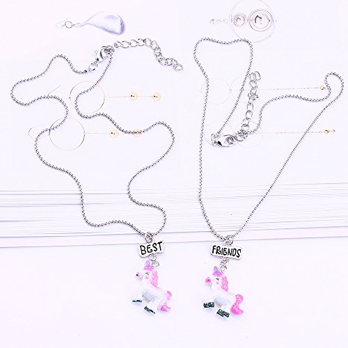 73936cee3273 Outlet Mejores amigas collares para niñas/niños Rainbow unicornio ...