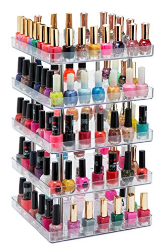 JACKCUBE Design 5 Tier Clear Nail Polish 360 Rotating, used for sale  Delivered anywhere in USA
