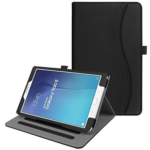 Fintie Case for Samsung Galaxy Tab E 9.6, [Corner Protection] Multi-Angle Viewing Stand Cover with Pocket for Tab E Wi-Fi/Tab E Nook/Tab E Verizon 9.6-Inch Tablet