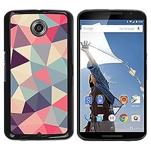 FlareStar Colour Printing Polygon Triangle Pattern Poly Art Pattern cáscara Funda Case Caso de plástico para Motorola NEXUS 6 / Moto X / Moto X Pro