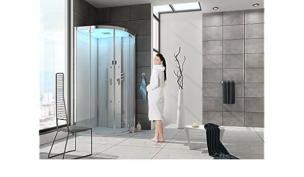 Baño Hoesch Vapor senseperience 100 x 100 cmmit Cuadrante ducha bañera esquina izquierda: Amazon.es: Bricolaje y herramientas