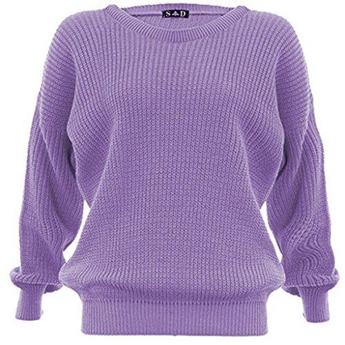Jersey de punto para mujer, grueso Lilac
