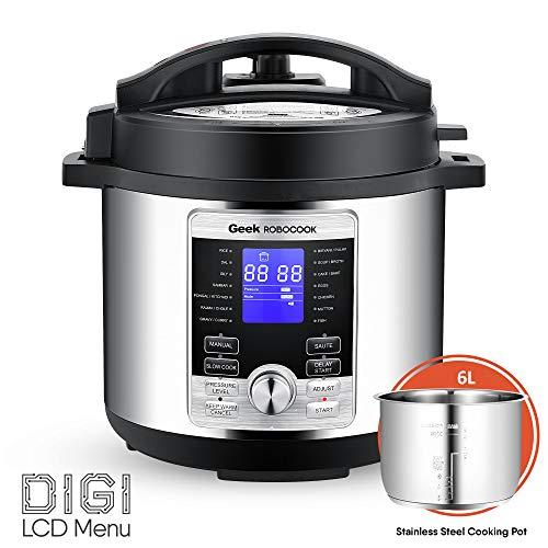 LD Geek Robocook D5 6 Litre Smart Electric Pressure Cooker wit
