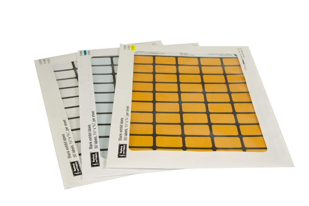 Blumberg Blank Laser/Inkjet Exhibit Stickers Starter Set with Software Templates and 1500 Labels