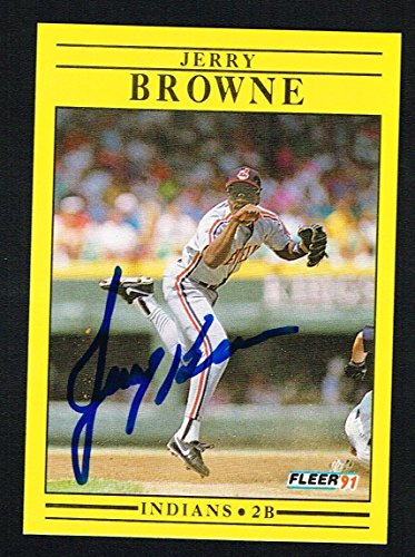 Jerry Browne #363 signed autograph auto 1991 Fleer Baseball Trading ()