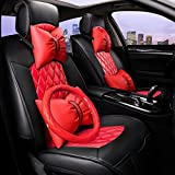 HOMEE@ Car Cushion Leather Surrounded By Four Seasons Universal Cushion , Red,red