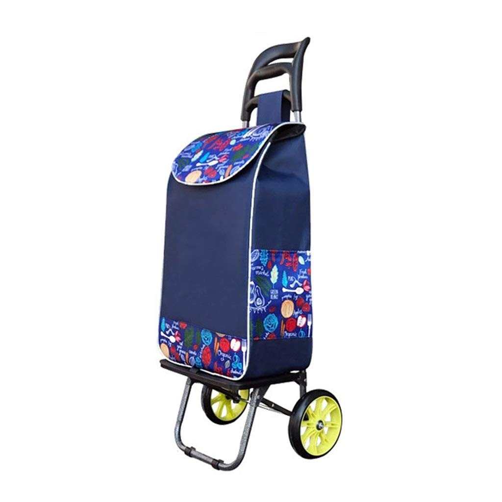 Cylficl Lightweight Shopping Cart - Multi-Function - Large Capacity - Foldable Luggage Luggage Van - Lipstick Rose Pattern Bag