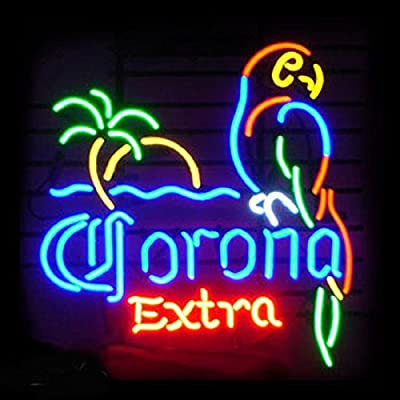 "Corona Extra Parrot Beer Neon Sign 17""X14"" Inches Bright Neon Light Display Mancave Beer Bar Pub Garage"