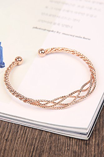 Hand Mesh Woven Bracelet - unique jewelry gift woman woven mesh bracelet bangle women girls personality exaggerated