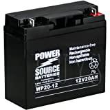 WP20-12 Sealed AGM 12v 20 ah Battery replaces PS-12200 NB, LC-P1220P, LC-X1220P, LC-XC221P, WP20-12ie, WP20-12E, WP20-12U, 6-DZM-20, 6-DFM-20, RBC39, BP20-12, EVP20-12, GP12200, 6-GFM-20, CB20-12, TEV12210, EV12200, M20-12 SLD M, ES20-12C, WKDC12-20NB, NP20-12, PT2012