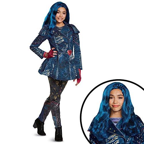 [Disney's Descendants 2 - Evie Deluxe Children's Isle Look Kit M] (Disney's Descendants Deluxe Maleficent Costumes For Women)