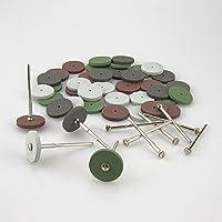 40 Mixed Lab Beauty Silicone Rubber Polishing Wheels+10 Mandrel Shank