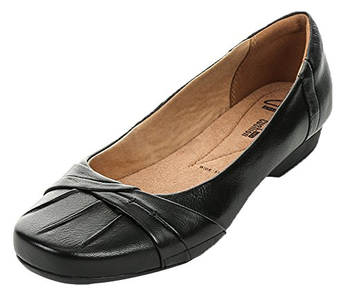 Clarks Blanche Fria Womens Casual Shoe in Black Leather Black Leather