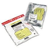 Tamper-Evident Twin Deposit Bags, 9 1/2 x 17 1/2, 100/Box, Clear by MMF