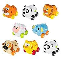 Cartoon Cars Friction Push and Go Juego de coches de juguete para bebés (juego de 8)